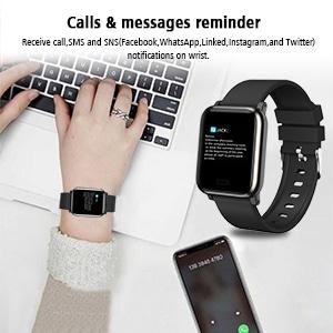 Fitness tracker heart rate monitor smart watch smart wristband