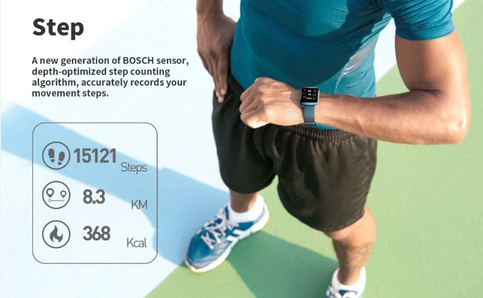 Smart watch for men women fitness tracker