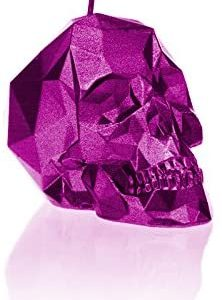 Candellana Candles Candellana- Small Skull Candle, Pink Metallic