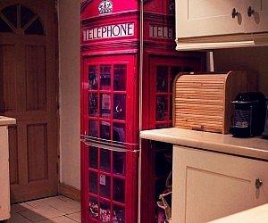 UK Telephone Box Fridge Wrap
