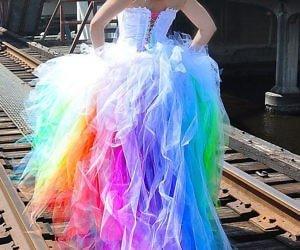 The Rainbow Wedding Dress