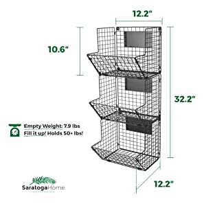 fruit and vegetable organizer dimensions