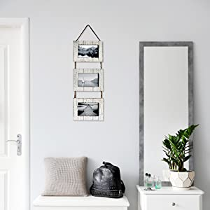 Life style photo of White Triple Photo Frame