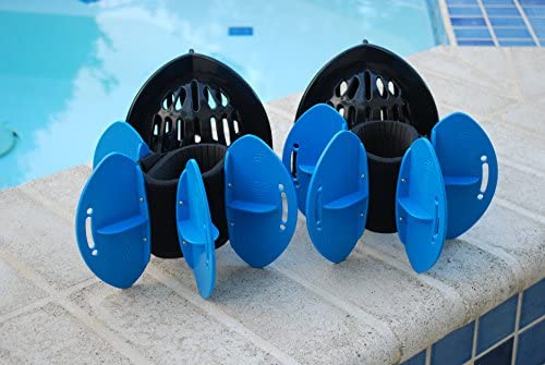 AquaLogix Total Body System - Upper Body Aquatic Bells & Lower Body Fins - Full Body Pool Workout - Bell/Fin Color Indicate Resistance Level - Online Demonstration Video & Workout Program Link
