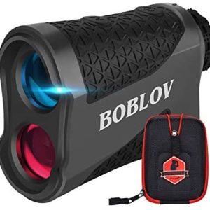 BOBLOV 650Yards Golf Rangefinder Flag Locking Golf Scope Laser Range Finder with Pinsensor Vibration Continuous Scan Function 6X Magnification K600 Series(K600G No Slope)
