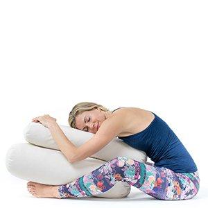 lotuscrafts yoga bolster for yin yoga rectangular  kapok