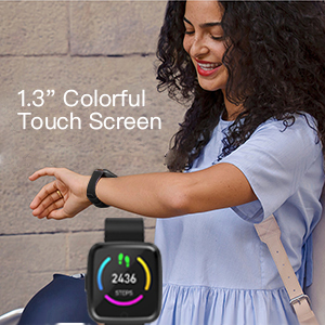 """1.3"""" HD Colorful Touch Screen"""