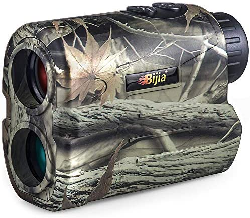 BIJIA Hunting Rangefinder - 6X 650Yards Multi-Function Laser Rangefinder for Hunting,Shooting, Golf,Camping with Slope Correction,Flag-Locking with Vibration,Speed,Angle,Scan,Distance Measure