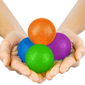 Vive Hand Exercise Balls - Grip Strengthening Physical, Occupational Therapy Kit - Squishy Stress, PT, Arthritis Pain Relief Workout Set - Fidget Finger Muscle Squeeze Resistance Strength Egg Trainers