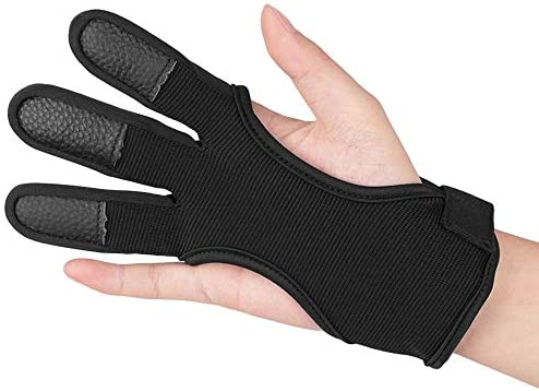 KRATARC Adult Archery Gloves Finger Protector Shooting Hunting Arrow Bow Archery Protective Gear Accessories