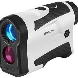 BOBLOV 650Yards Slope Golf Rangefinder with Pinsensor 6X Magnification Support Vibration and USB Charging Flag Lock Distance Speed Measurement Range Finder LF600AG with Slope