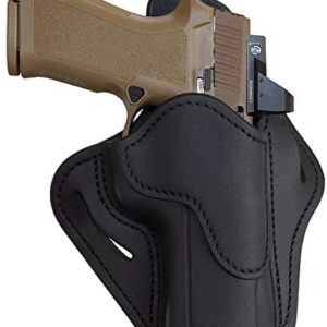 1791 GUNLEATHER Sig P320 Optic Ready Holster - OWB CCW G43 Holster - Right Handed Leather Gun Holster for Belts - Sig SP2022, P227, H&K VP40, P30L