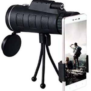 2020 Newest Monocular Telescope, 40x60 High Power HD Monocular for Bird Watching Adults with Smartphone Holder & Tripod BAK4 Prism for Bird Watching, Camping, Hiking