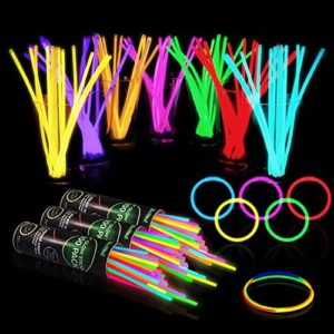 "500 Glow Sticks Bulk Party Supplies - Glow in The Dark Fun Party Pack with 8"" Glowsticks and Connectors for Bracelets and Necklaces for Kids and Adults"