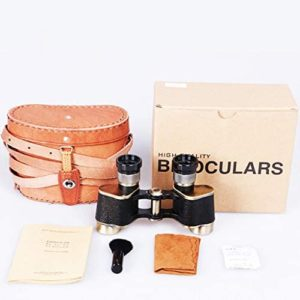 6x24 Powerful Heavy-Duty Binoculars Telescope with Leather Storage Box for Wildlife Birds Watching, Adults HD Binoculars Telescope with Metal Body & Low Light Night Vision for Sightseeing,Travelling