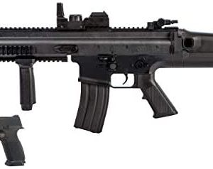 Airsoft Starter Kit Including FN Scar AEG Electric Powered Gun with Hop-Up and FNS-9 Spring Pistol