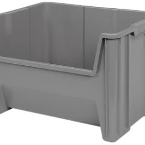 Akro-Mils, 13017GREY, Stacking Bin, 15-1/4-Inch Deep by 19-7/8-Inch Wide by 12-1/2-Inch High (3 Pieces)