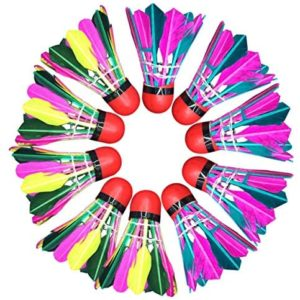 BESPORTBLE 11 pcs Shuttlecock Badminton Set Colorful Faux Feather Badminton Ball Sport Playing Badminton Supplies for Indoor Outdoor (Mixed Colors)