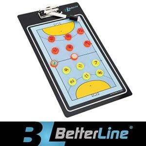 """Better Line  Professional Coaching Board for Handball Magnetic Double-Sided Dry-Erase Clipboard - Includes Numbered Magnets & Marker - Choose Your Sport (13.8"""" x 7.9"""" Inches, Handball)"""