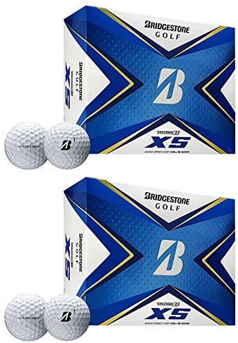 Bridgestone Golf 2020 Tour B XS Reactive Urethane Distance White Golf Balls (2 Dozen)