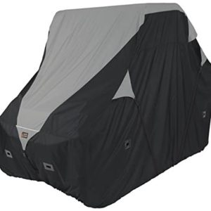 "Classic Accessories QuadGear Black/Grey QuadGear UTV Deluxe Storage Cover (For Mid Sized 2 Passenger UTVs Up To 113""L 60""W 70""H)"