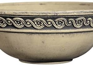 "Classic Home and Garden Corinthian Bowl 12"" Planter, Cast Concrete"