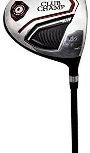 Club Champ Men's Right Hand DTP (Designed to Play) Alloy Driver Golf Club with Headcover