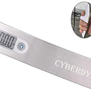CyberDyer 110 Lbs Digital Archery Scale Recurve Bow Compound Bow Hunting Scale Luggage Scale with LCD Display (Silver)