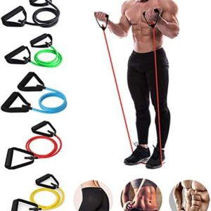 Diaclara Single Resistance Bands, Workout Bands - Includes Single Exercise Band, Cushioned Handles for Resistance Training, Physical Therapy, Home Workouts