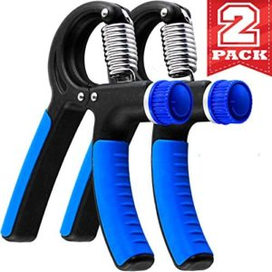 Grip Strength Trainer - 2 Pack Hand Grip Strengthener W/Adjustable Resistance Range 20lbs-90lbs - Robust and Non-Slip Hand Strengthener for Perfect Forearm Grip Workout and Hand Rehabilitation