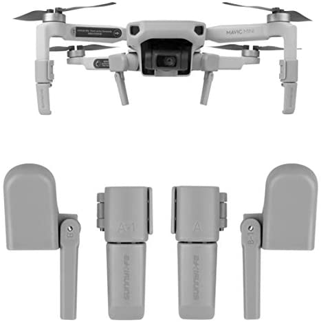 Helistar Foldable Heightening Landing Gear Extension Legs Compatible with DJI Mavic Mini Drone Accessories