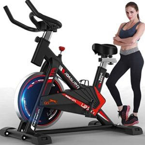 Indoor Bicycle 【 Ship from USA 】Ultra-quiet Exercise Bike Home Bicycle Bicycle Exercise Machine Fitness Equipment