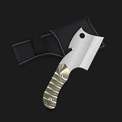 """LIANTRAL Survival Camping Cleaver Knife with Sheath Fixed-Blade Hunting Knife, 7.4"""" x 2.3"""""""