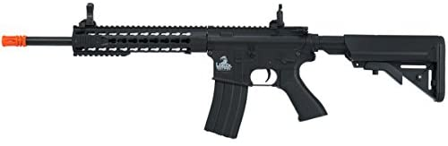 Lancer Tactical Full Metal Gear with 10 keymod Rail Interface System Polymer Body lt-19 (Black)(Airsoft Gun)