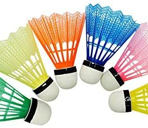 Lanyun Badminton Birdies, High Speed Badminton Birdies Balls Colourful Shuttlecock Outdoor Indoor Sport Activities Shuttlecocks Nylon Feather Training Durable for Ball Exercise Gym Fitness 6pc