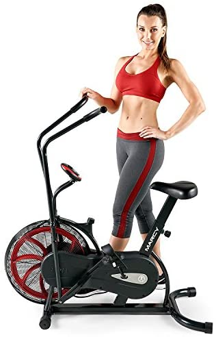 Marcy Fan Exercise Bike with Air Resistance System – Red and Black – NS-1000