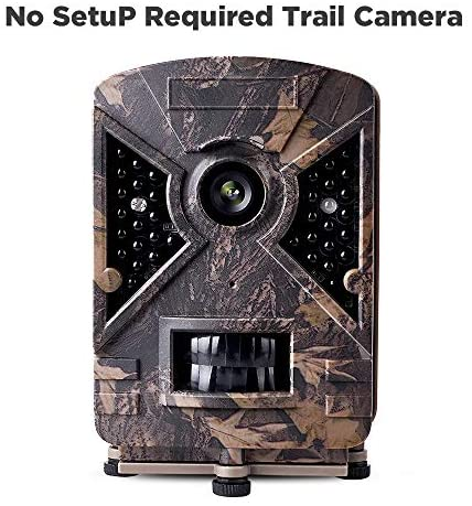 """Narrogat No Setup Trail Camera 12MP 1080P No Glow Deer Hunting Game Camera Cam with Night Vision Motion Activated IP66 Waterproof 2.4"""" LCD for Outdoor Wildlife, Garden, Animal and Home Security"""