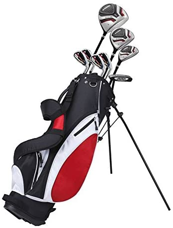 Precise Teenager Complete Golf Set Includes Titanium Driver, S.S. Fairway, S.S. Hybrid, S.S. 7-PW Irons, Putter, Stand Bag, 3 H/C's Teen Ages 13-16 Right Hand & Left Hand Available!