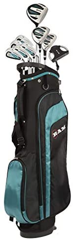 RAM Golf EZ3 Ladies Petite Golf Right Hand Clubs Set with Stand Bag - Graphite Shafts