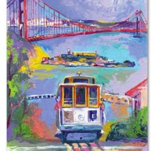 San Francisco 2 by Richard Wallich, 14x19-Inch Canvas Wall Art
