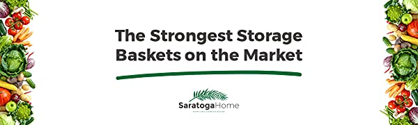Saratoga Home strong and sturdy hanging storage baskets iron wire