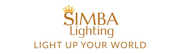 simba lighting light up your world brand logo slogan