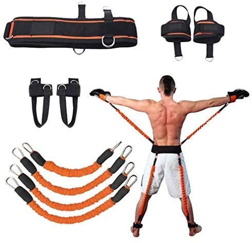 Sunsign Speed and Agility Resistance Bands Trainer for Vertical Jump Squat Boxing MMA Taekwondo Karate Bounce Softball Basketball Volleyball Football Training