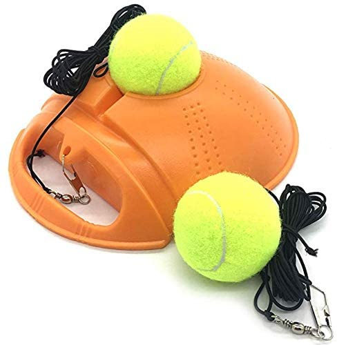 Top Tennis Trainer Rebounder Ball - 2020 Model - Solo Tennis Practice Trainer Gear - #1 Complete Tennis Training Exercise Ball Equipment Kit with 2 Return Elastic Strings, 2 Balls & Sturdy Base