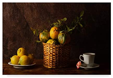 Trademark Fine Art Still Life with Lemons, Oranges and A Rose by Luiz Laercio, 22x32-Inch, 22x32