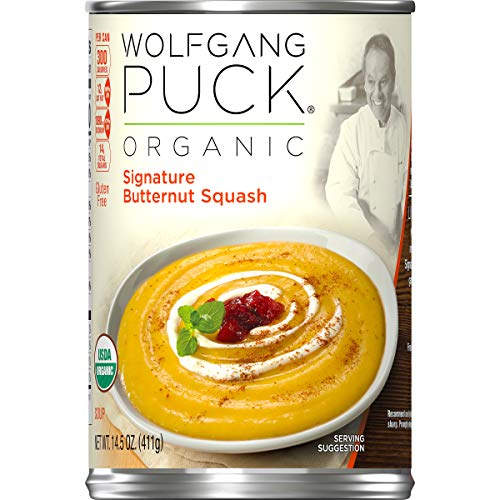 Wolfgang Puck Organic Signature Butternut Squash Soup, 14.5 oz. Can (Pack of 12)