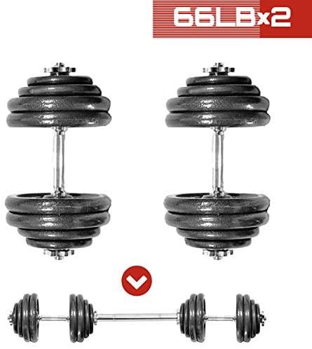 shanchar Adjustable Weights Dumbbells Set,Free Weights Dumbbells Set for Men