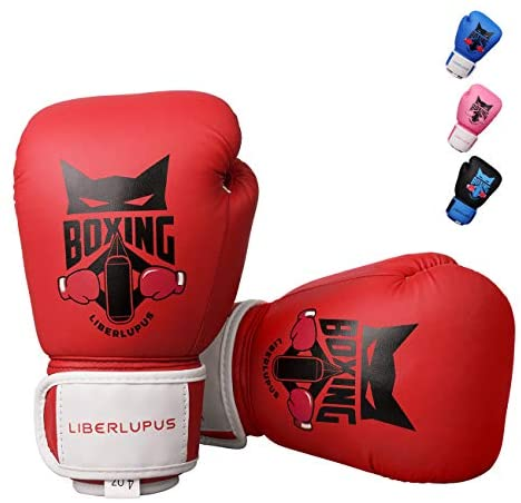 Liberlupus Kids Boxing Gloves, Boxing Gloves for Kids 3-15, Youth Boxing Gloves with Multiple Color & Size, Kids Boxing Gloves for Punching Bag, Kickboxing, Muay Thai, MMA
