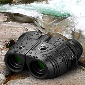The binoculars is beside the river,which is waterproof