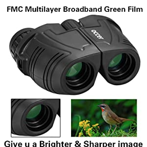 The binoculars is made of BAK4 that can give you an amazing image.